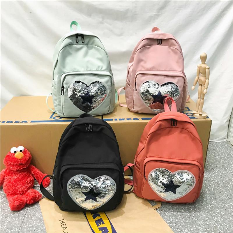 Рюкзак из нейлона с пайетками