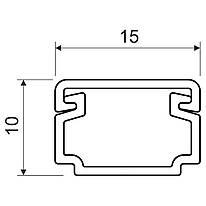 Кабельний канал з ПВХ білого кольору; 15х10мм; Серія LH; ПВХ