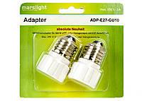 L13-330045_01, Набор патронов для  LED галогенных лампочек (2 шт) Е-27, G-10, , белый-серебристый