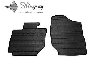 SUZUKI Jimny 2018- Комплект из 2-х ковриков Черный в салон