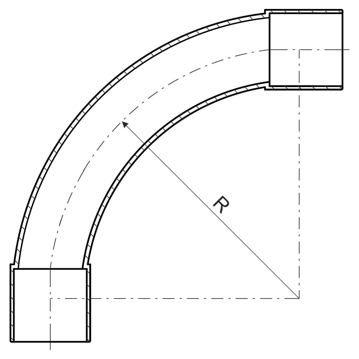 Коліно для труби 32 мм; Ø32мм; РС; безгалогенне; t застосування -45+90 °с; світло-сіре;