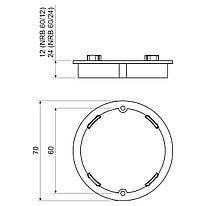 NRB 60/24_AB Надставна рамка коробки в бетон