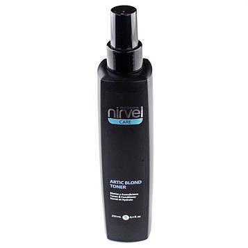 Спрей-кондиционер (тонер) для волос для холодных оттенков блонд Nirvel Artic blond toner 250 мл 7410