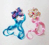 Цветные пряди на заколке с бантиком, фото 1