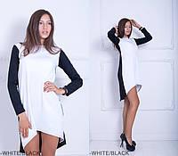 Вільний двокольорове асиметричне плаття Spring