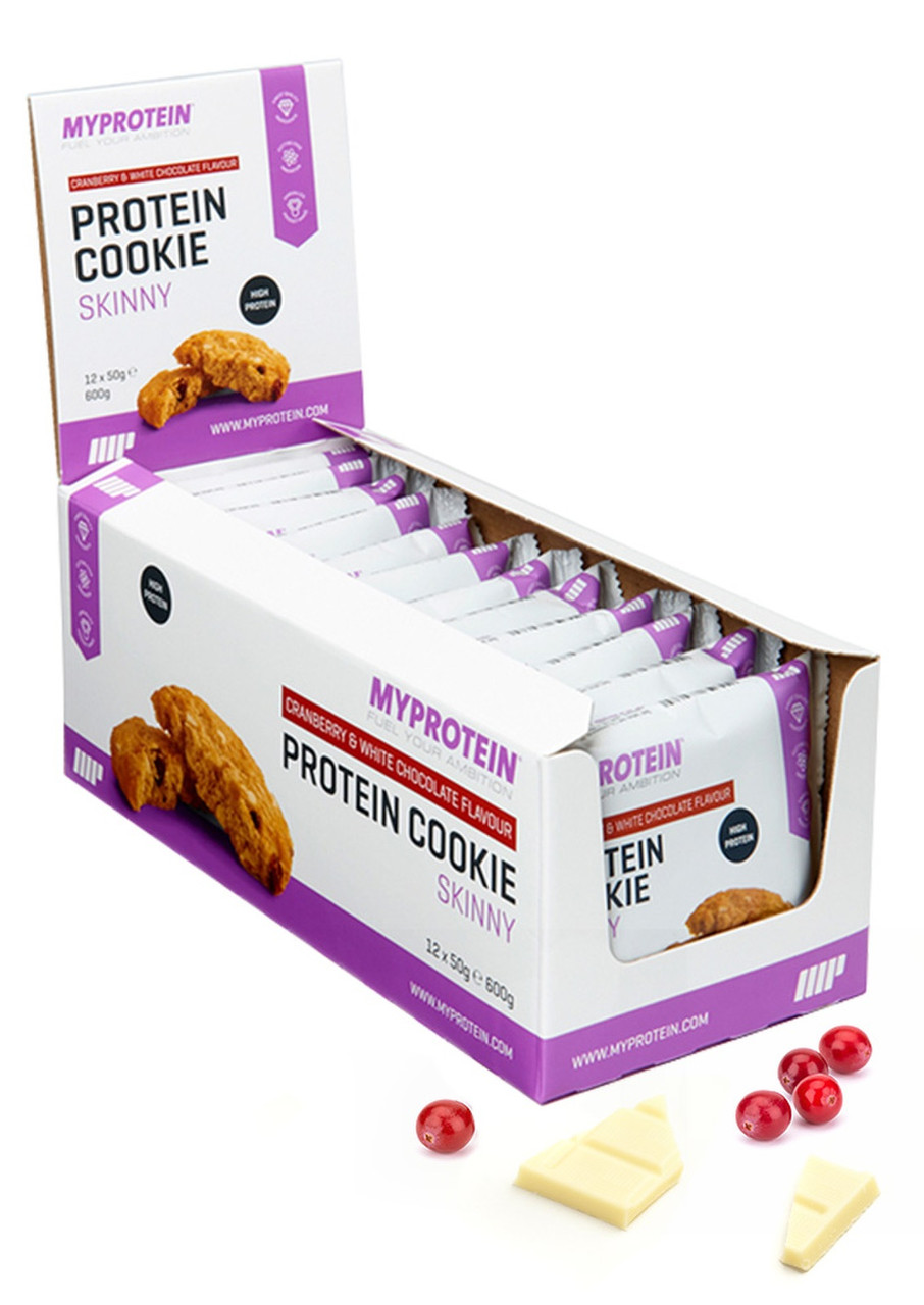 Печенье Myprotein - Lean Cookie (50 грамм) клюква с белым шоколадом