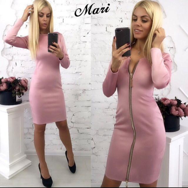замшевое платье на молнии оптом Arut оптовый интернет магазин женской одежды арут