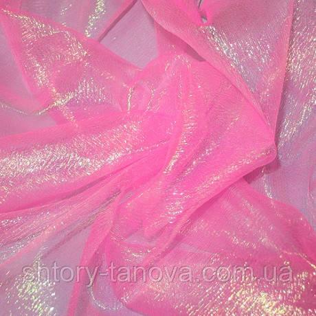Органза льдинка розовый