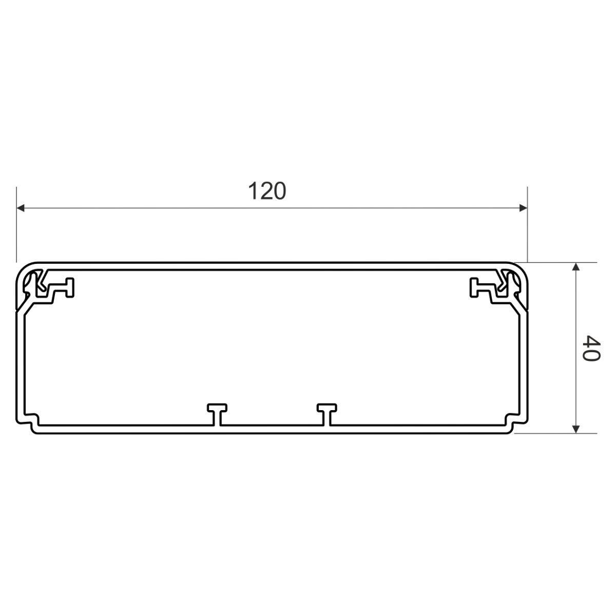 EKD 120X40_HD Електромонтажний короб