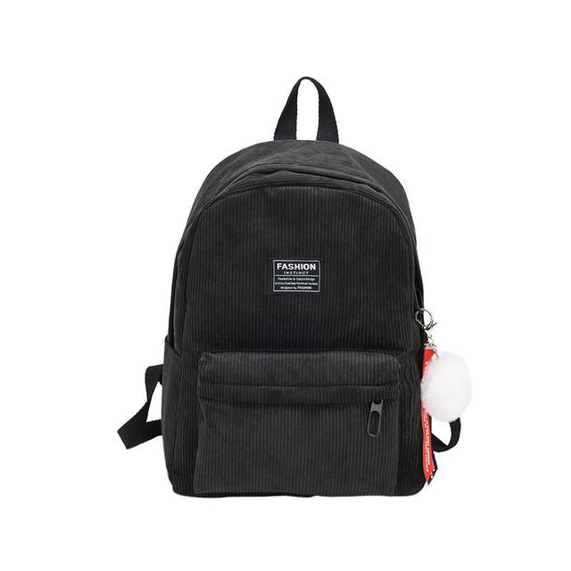 Вельветовый рюкзак черный