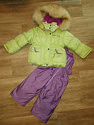 Зимний костюм для девочки  р.80