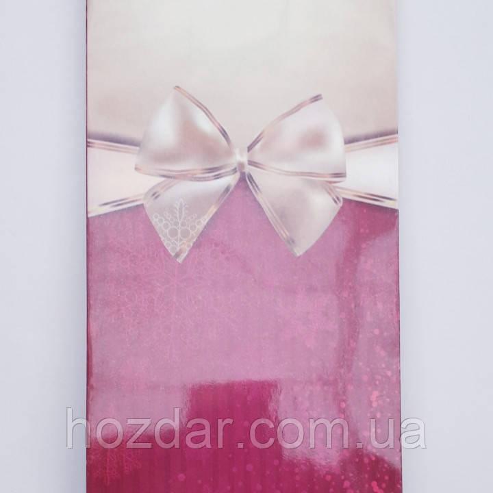 Пакет подарочный бумажный бутылка 12х36х9 (25-049)