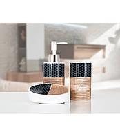 Комплект в ванную Irya - Aden brown коричневый (3 предмета)