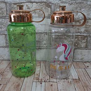 Бутылка пластиковая Единорог, 700 мл (бутылка с поилкой), фото 2
