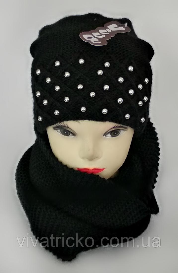 М 5043 Комплект жіночий: шапка+хомут,марс, фліс, розмір вільний