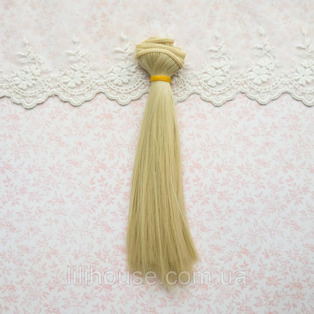 Волосы для кукол в трессах, пепельный блонд - 50 см