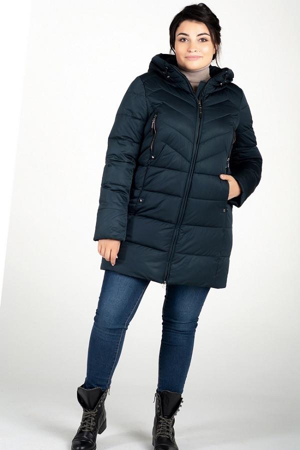 Женская куртка Лора зеленый (48-58)