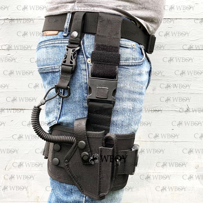Кобура стегновий з платформою для пістолета ПМ (oxford 600D, чорний)