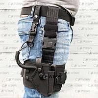 Кобура стегновий з платформою для пістолета ПМ (oxford 600D, чорний), фото 1
