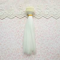 Волосы для Кукол Трессы Прямые БЕЛЫЕ 50 см