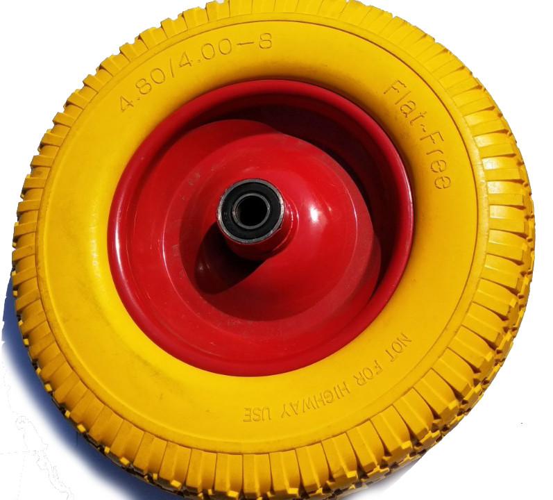 Ненадувное колесо 4-8.00 для тачки, пена  (под 12 мм,16 мм ось)