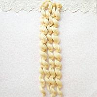 Волосы для кукол кудри в трессах, блонд - 15 см