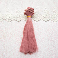 Волосы для Кукол Трессы Прямые ХОЛОДНЫЙ РОЗОВЫЙ 50 см