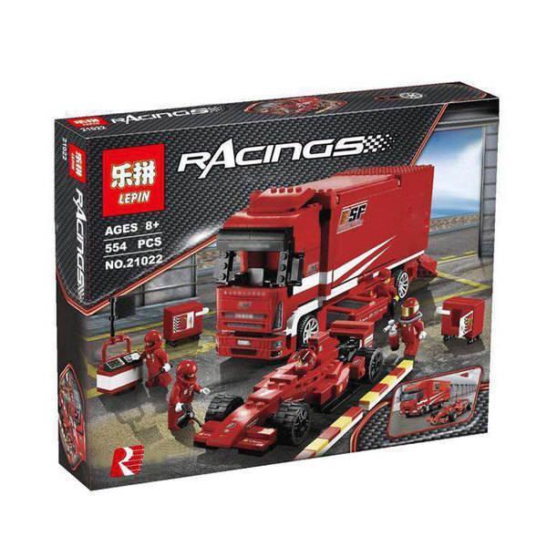 "Конструктор Lepin 21022 ""Грузовик Ferrari"" 554 деталей. Аналог Lego Racers 8185"