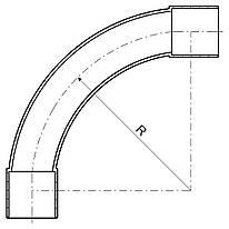 4125_HB Коліно для EN труби