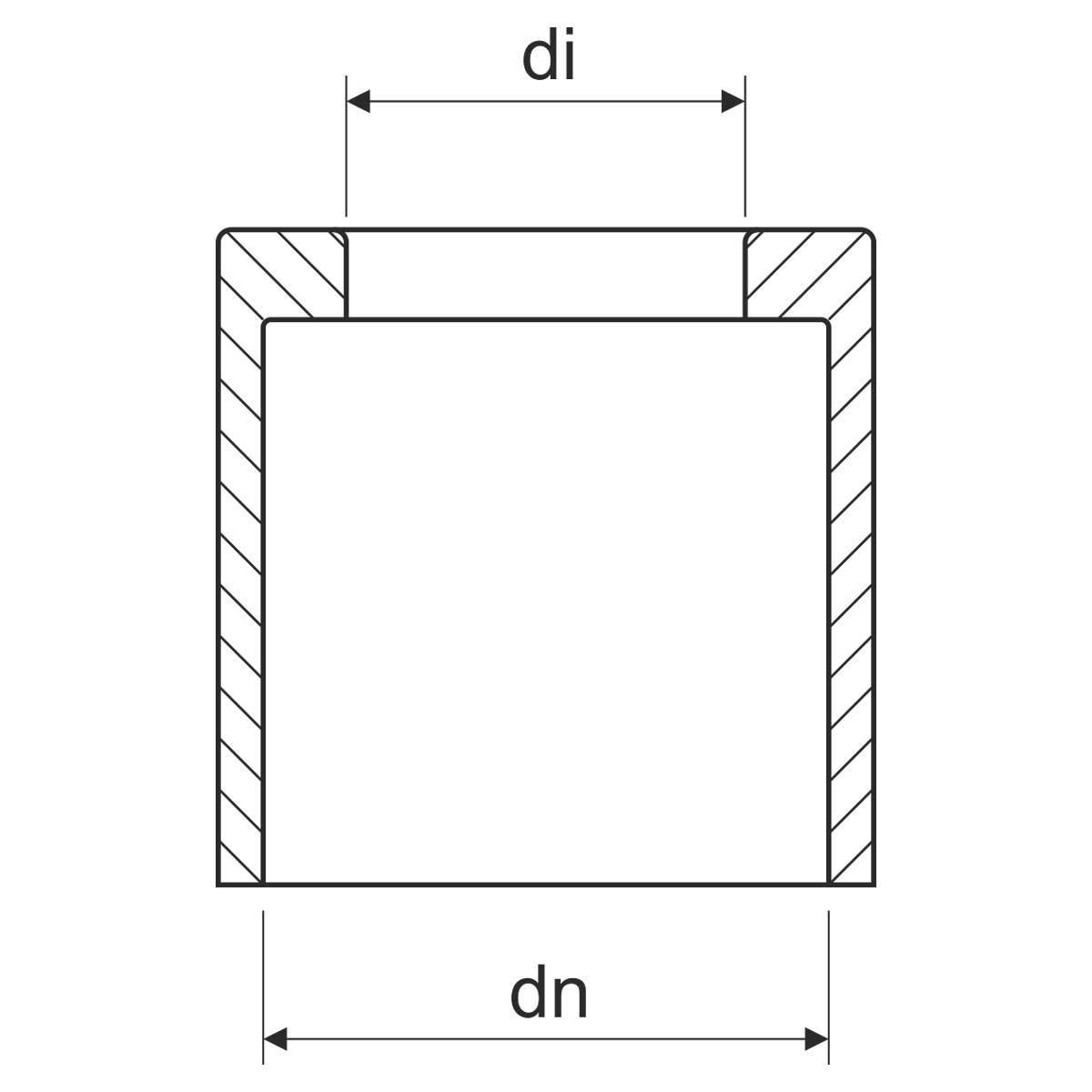 Кінцева втулка для сталевих труб - зовнішня (EN)
