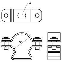 """Хомут """"Омега"""" ; сталь оцинкована шар цинку 17-19мкм стійкість корозії- 2 кат.;"""