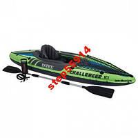 Надувная лодка-байдарка, каяк Intex Challenger K1