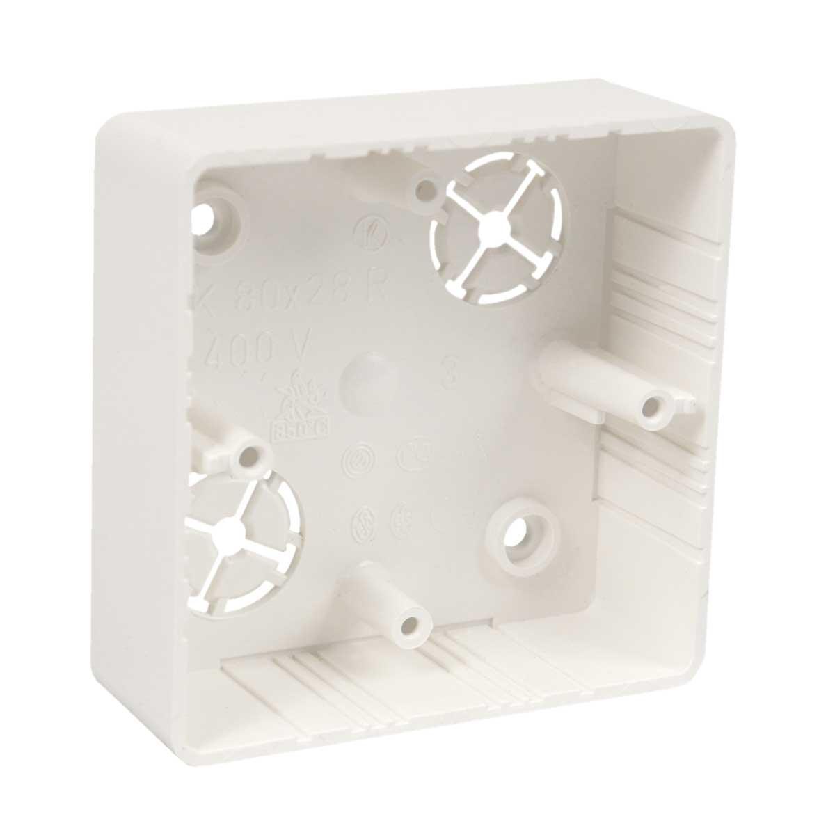 Коробка приладова (дуб) ПВХ; розміри 81х81х28мм