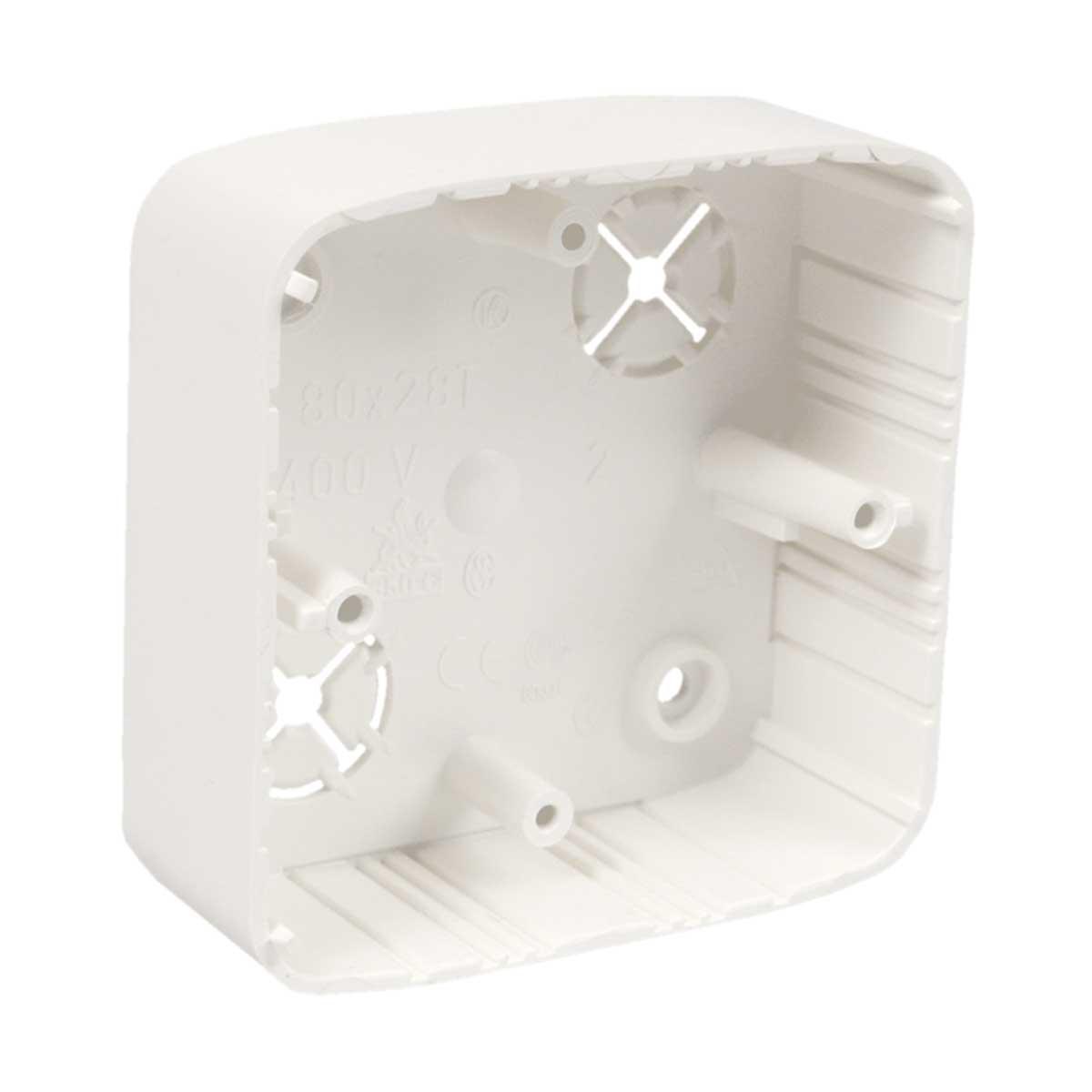 Коробка приладова (дуб) ПВХ; розміри 80,5х80,5х28мм
