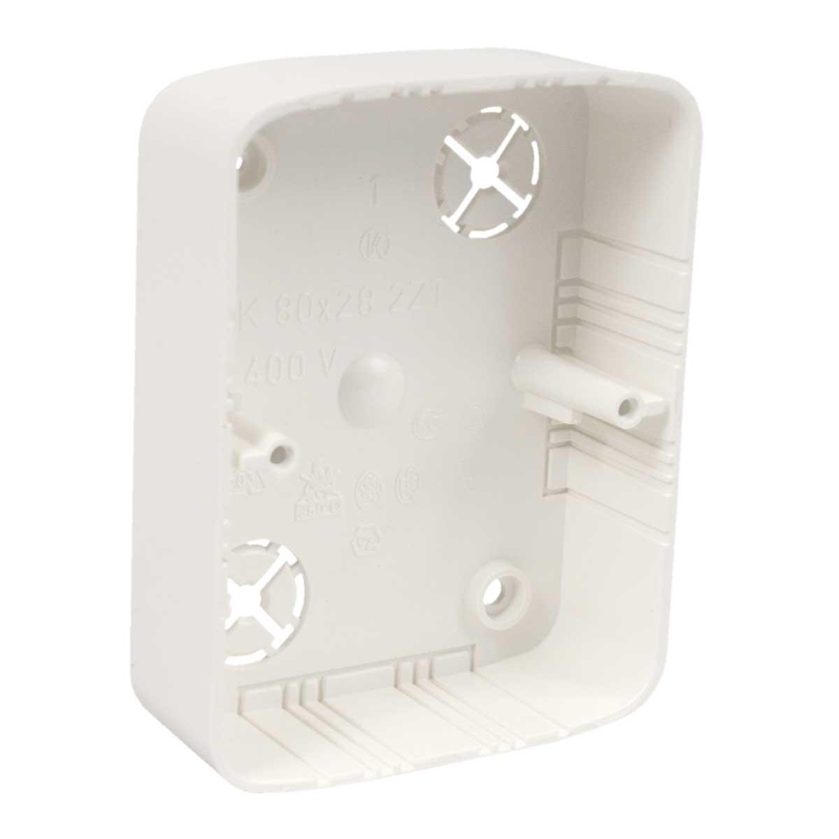 Коробка приладова подвійна (бук) ПВХ; розміри 105х80,5х28мм