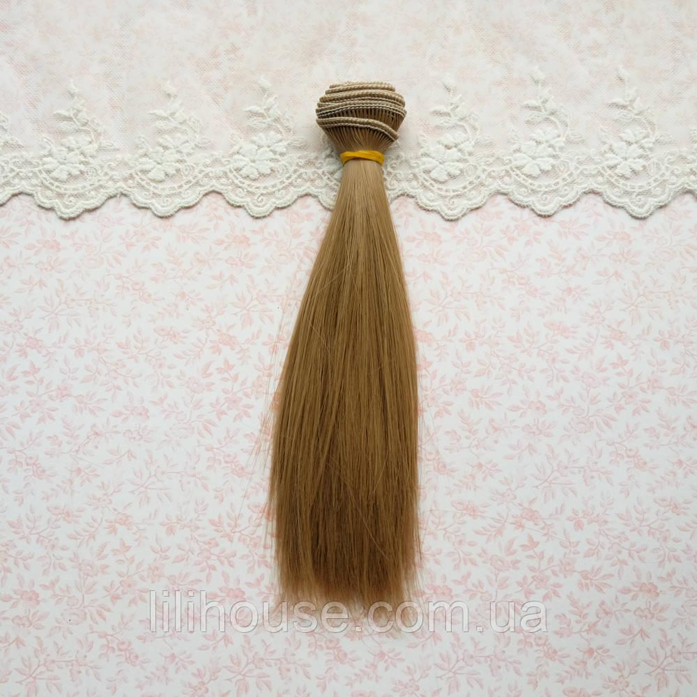 Волосы для кукол в трессах, русые - 50 см