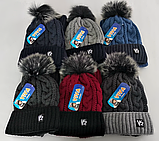 М 5050 Комплект для хлопчика: шапка+манішка , акрил, фліс, фото 4
