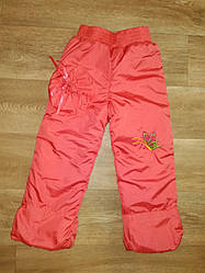 Зиминие штаны на синтепоне для девочки р.104-122
