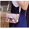 Яркая прозрачная маленькая женская сумка через плечо, белая