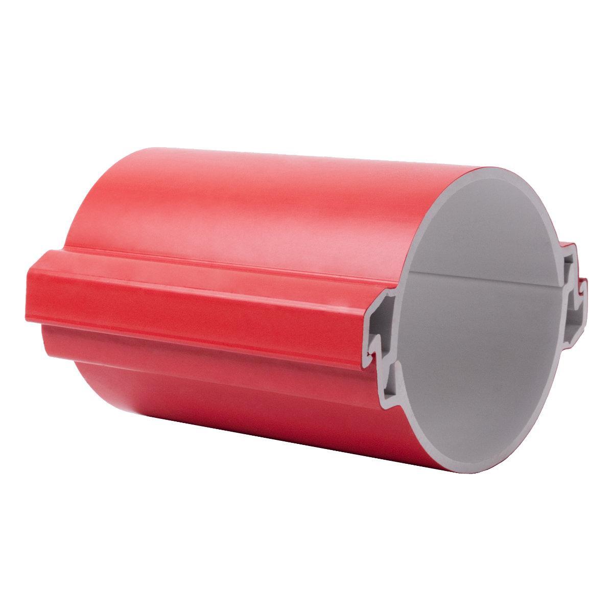 Труба розбірна КОПОХАЛФ; для підземного прокладання кабелю. Одношарова; Ø110мм; ПВХ; червона довжина 3 м