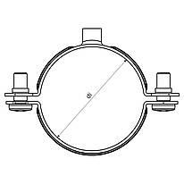"""Хомут """"Dobrman""""; Ø10мм; сталь; оцинкований; шар цинку 17-19мкм; стійкість корозії-2 кат."""
