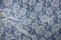 Ткань гипюр стрейч дизайн  №102 белый, фото 1