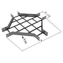 Відгалужувач хрестоподібний на лоток драбинного типу KOPOS; розміри-85x600x1800mm Товщ. метал- Вага-кг/м