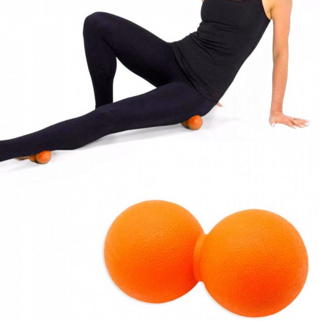 Мяч двойной массажный LivePro THERAPY MASSAGE PEANUT BALL 6,5х14 см для массажа и йоги