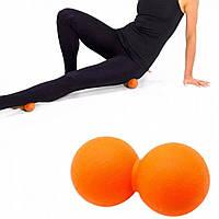 Мяч двойной массажный LivePro THERAPY MASSAGE PEANUT BALL 6,5х14 см для массажа и йоги, фото 1