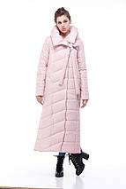Зимове пальто-кокон стьобана з якісної плащівки, меланж ( р-р 48,50,54) код 3098М, фото 3