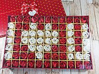 Большой набор подарочное мыло розы 77 бутонов ( подарок на 14 февраля )