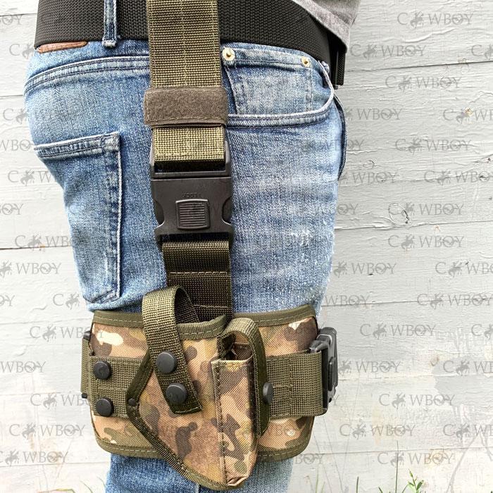 Кобура набедренная с платформой для пистолета ПМ,  мультикам