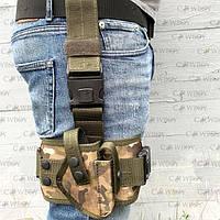 Кобура набедренная с платформой для пистолета ПМ,  мультикам, фото 1