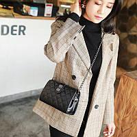 Женская сумка клатч черная из экокожи, фото 1
